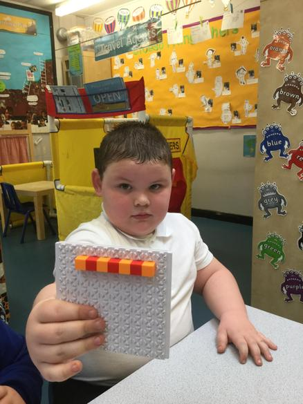 Using blocks to learn about repeating patterns