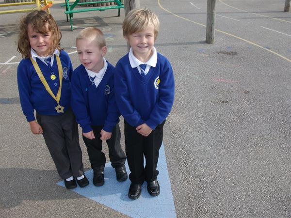 Our shape walk- we found a triangle