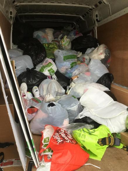 The van was very full!