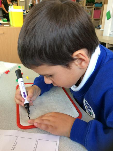 We are practising to hold our pen correctly.