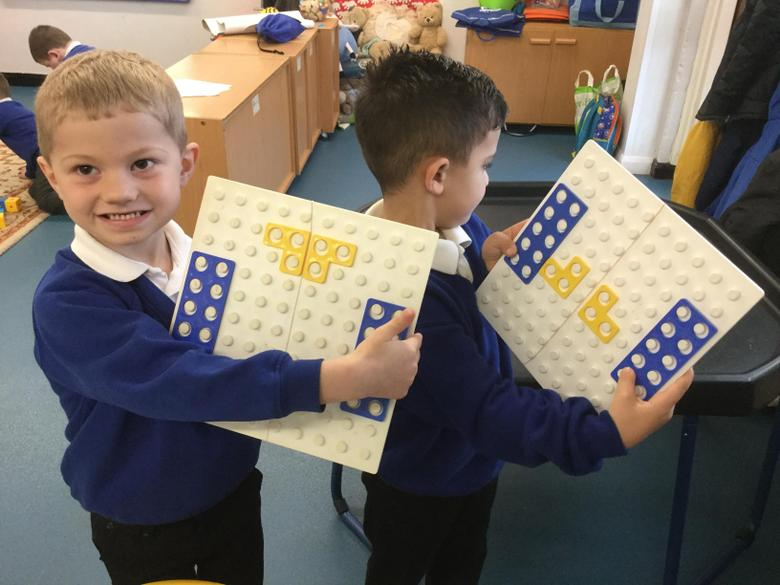 This was our first work on 'symmetry' in Reception