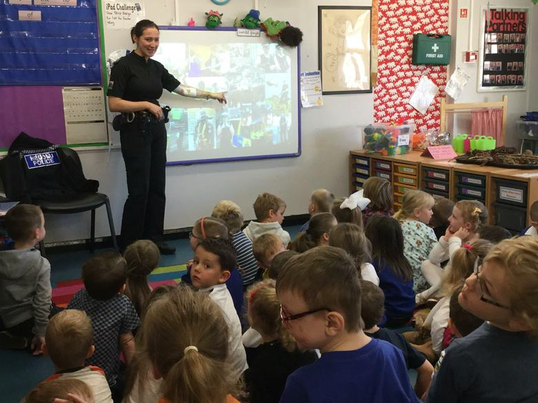 We enjoyed our visit from PC Sarah