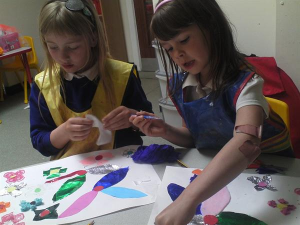 May 2013 - making flower collages