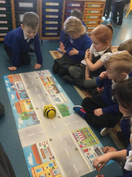 We used Beebot to help us to learn how to code