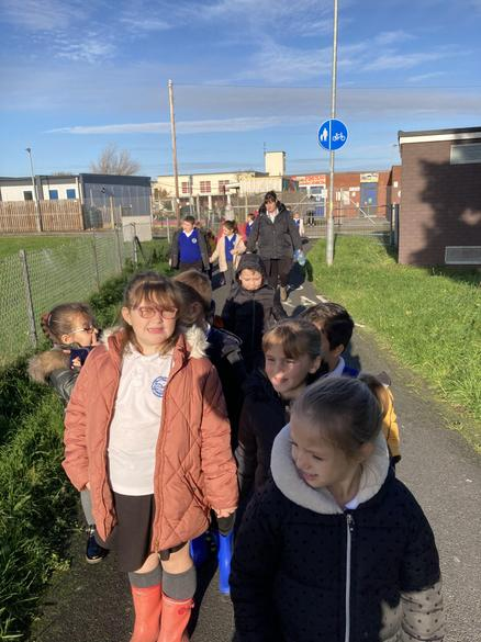 As part of this week we set off for the Community Woodland area