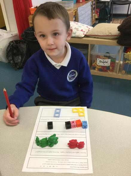We used objects to help us solve them