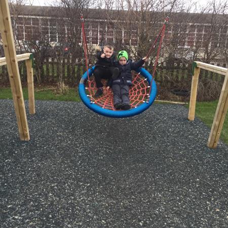 Fun on the swings
