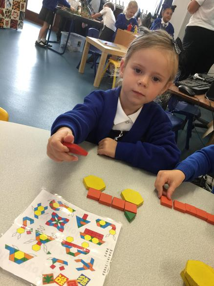 Using different shapes to make lovely pictures.