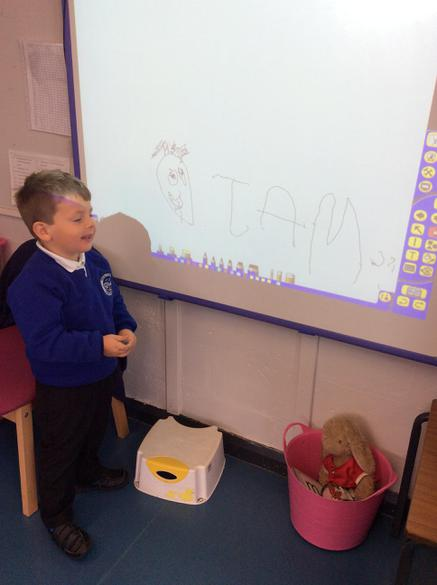 We can write on the whiteboard too.