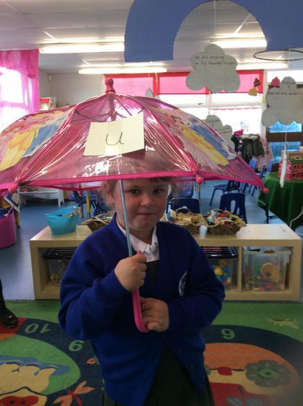 u - I am upset under the umbrella