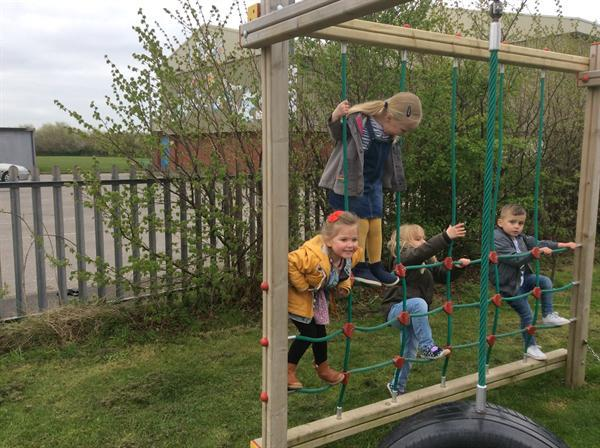 On the climbing frame 3