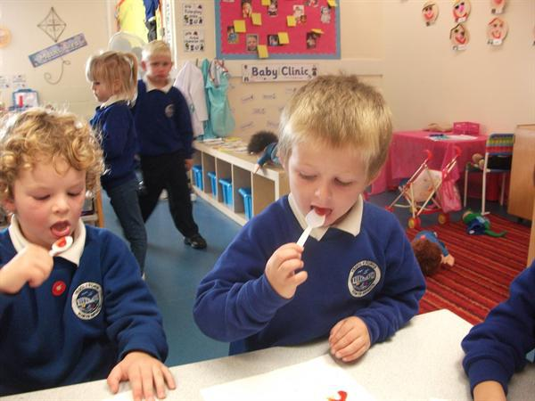Our tasting session- some were yummy!