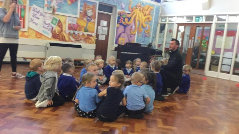 Our week started with a visit from 'Kick It Chris'