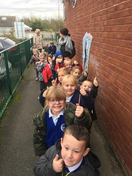 Setting off on our walk.