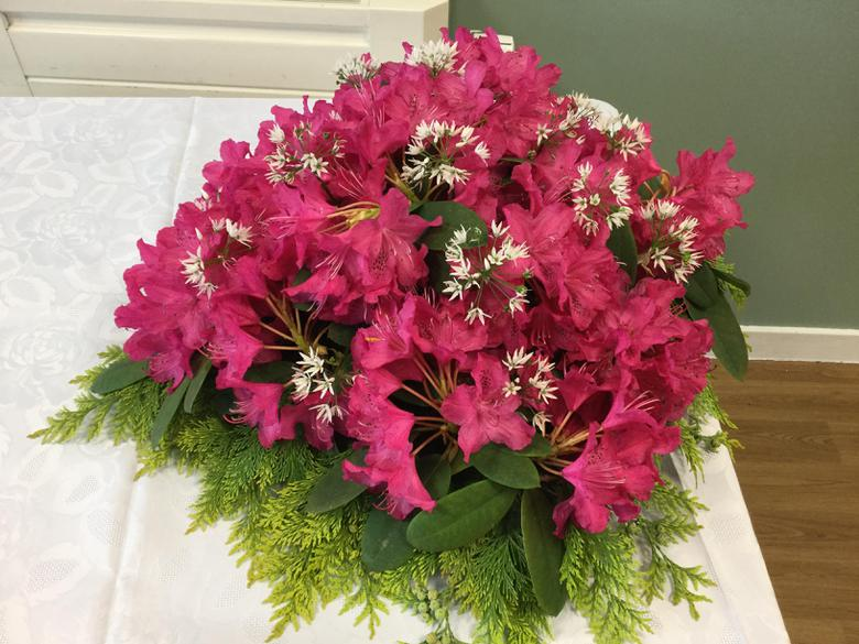 Beautiful flowers donated by Mrs Glazzard