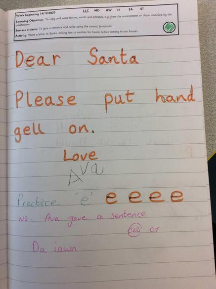 Writing to Santa!