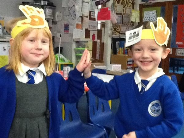 Respecting others week - High fiving friends