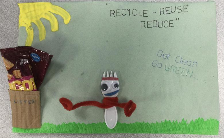 On of our Year 2 Eco Councillors has just created our school's new Eco Code