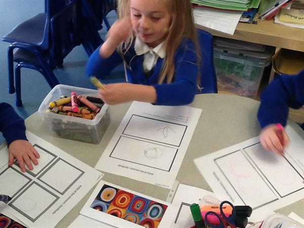 We are making pictures in the style of Kandinsky