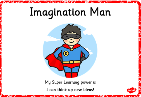 Imagination man can be creative.
