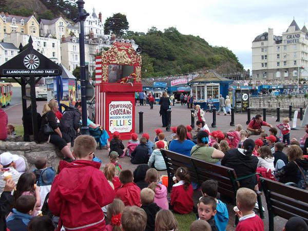 Watching the Punch and Judy Show