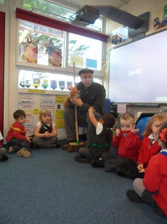 Percy visiting Nursery