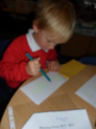 Writing my name