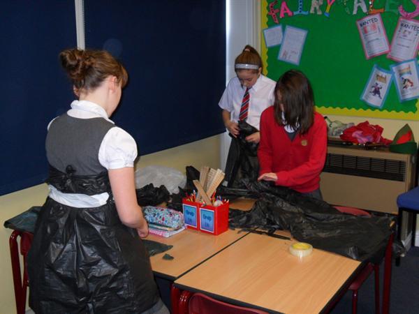 Fashion Club creations with.....bin bags!
