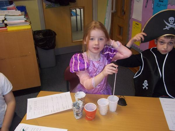 Year 3RP carrying out our porridge investigation