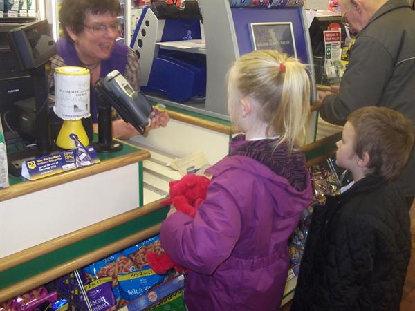 Dafydd pays his money too.