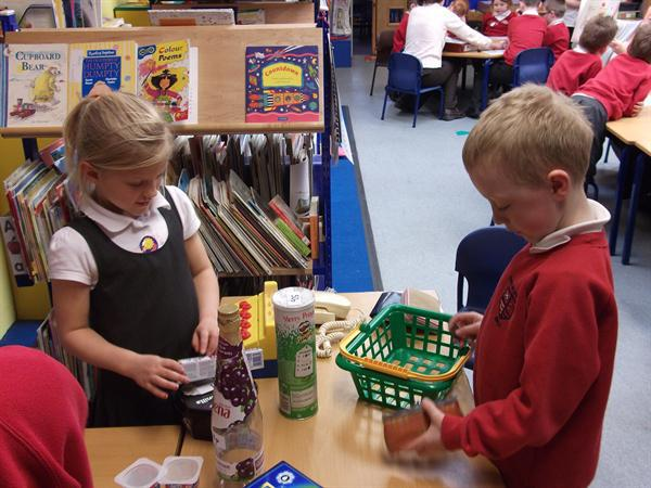 Back at school, we made our own shop.