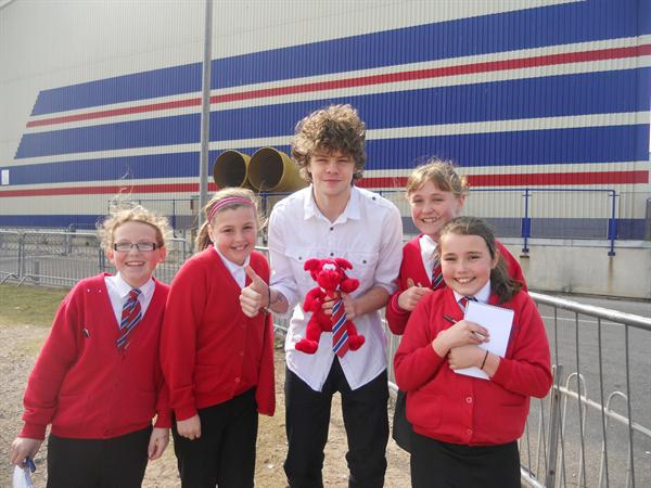 Jay, Dafydd and the girls