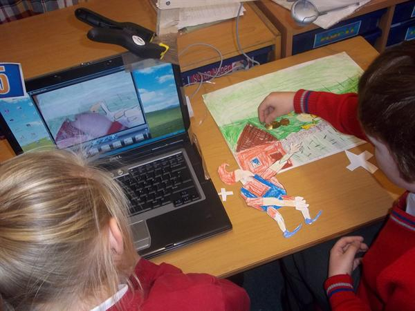 Look at us carrying out our animations!