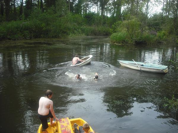 Lake swimming...