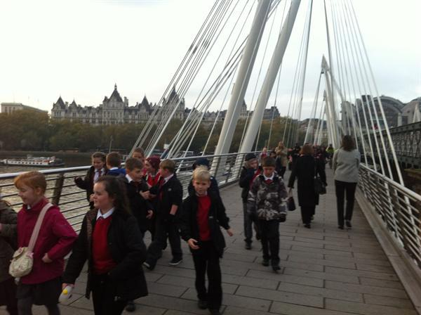 Year 5 had a fantastic trip to London on Wednesday