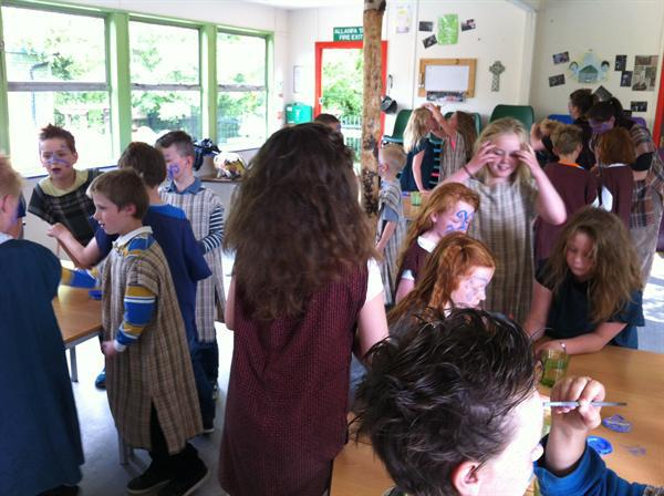 Year 3LW as Celts...scary huh!
