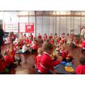 All the pupils enjoy the teddy bears picnic!