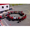 Year 6 DV enjoying African drumming