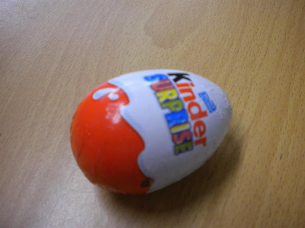 We had a Kinder egg in our box