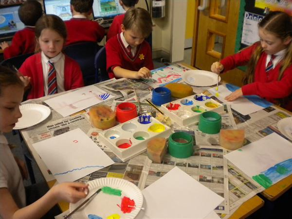 We painted in the style of Janet Bell.