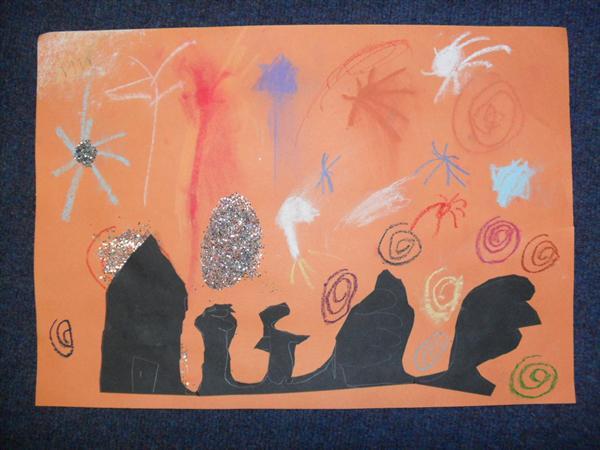 Bonfire artwork by Abigail Marshall