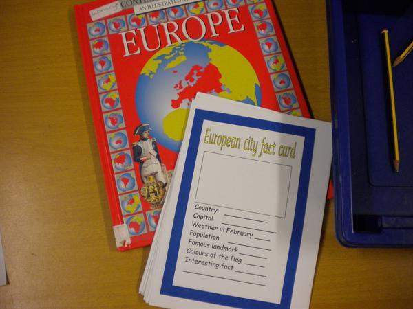 We made European fact cards