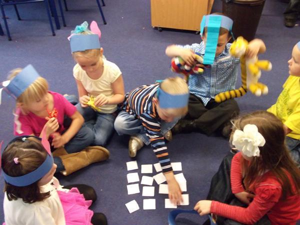 playing Elmer matching pairs
