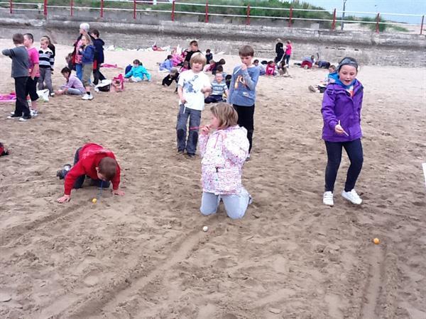 Ysgol Brynhedydd Beach School Olympics
