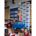 Premier League Trophy visits our school!