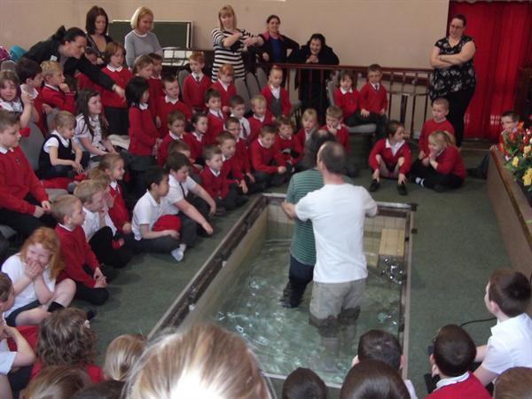 Mark is ready to be baptised.