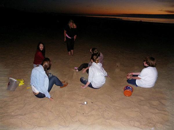 late night beach time fun!