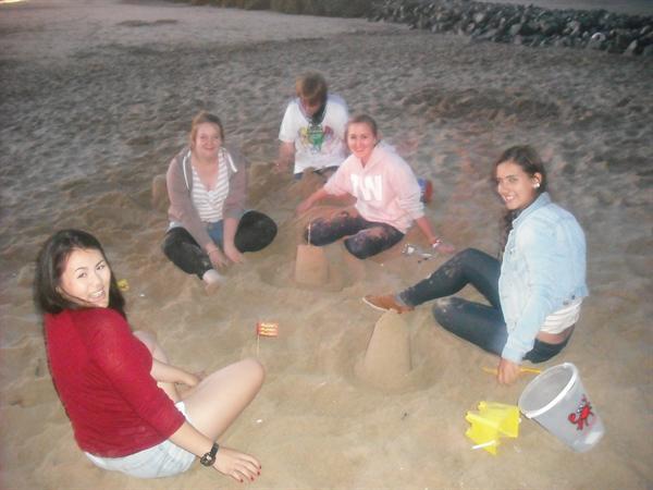 Prestatyn beach - sandcastle competitions!!