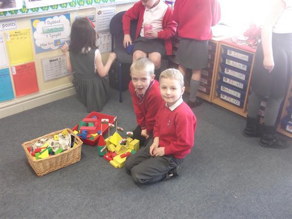 Building Welsh castles.