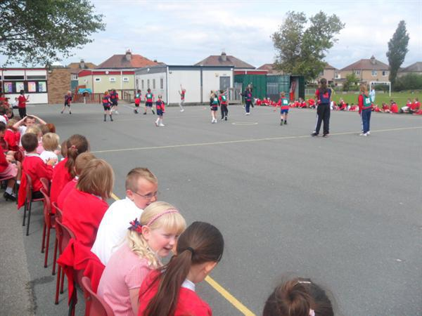 Interhouse matches played in the sunshine